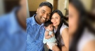 Vikas Kaushal is seen with his wife and five-month-old daughter in this family photo.
