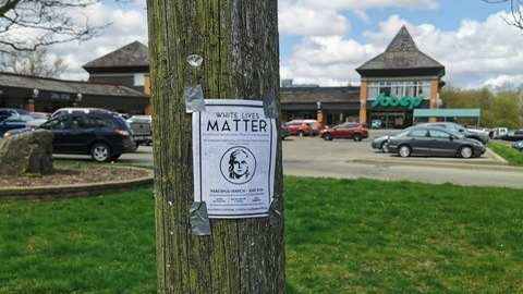 A poster promoting a White Lives Matter parade in Wilmot Township (Natalie van Rooy / CTV News Kitchener)
