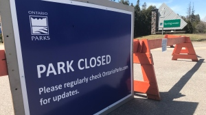 Provincial parks close amid Ontario's COVID-19 order. (CTV News Barrie)