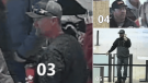 "A page on the Regina Police Service's website shows video clips of people who entered Cornwall Centre unmasked during a ""freedom rally"" (Source: Regina Police Service)"