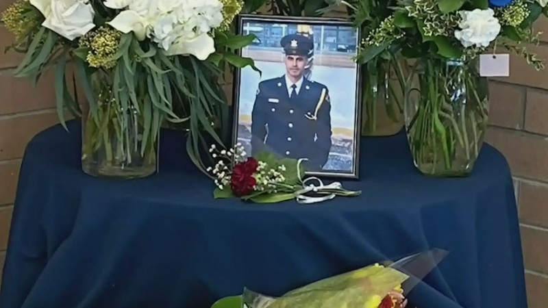 Vigil underway for slain corrections officer