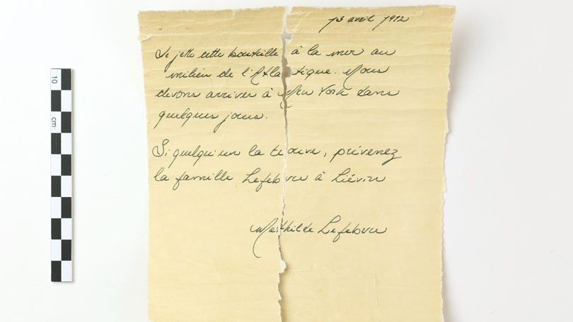 Letter from the Titanic?