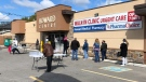 Walk-up COVID-19 vaccination clinic in Windsor, Ont. on May 8, 2021. (Alana Hadadean/CTV Windsor)