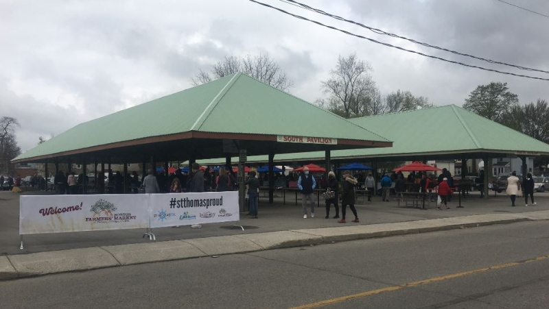 Horton Market in St. Thomas, Ont. on May 8, 2021. (Brent Lale/CTV London)