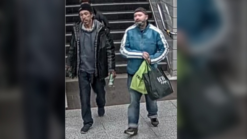 Two suspects are wanted in connection with an assault investigation at Bathurst Subway Station. (TPS Handout)