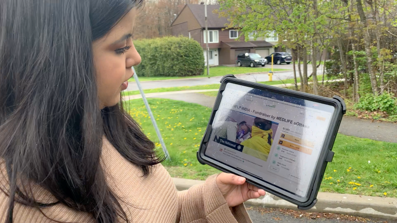 Elisha Chadha and MedLife uOttawa have launched a fundraising campaign to help India during the COVID-19 pandemic. (Jackie Perez/CTV News Ottawa)