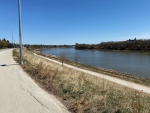 Red River near Tache Avenue, May 8 (Source: Zachary Kitchen, CTV News)
