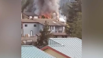 Fire crews were called to the home on Eagle Crescent in Gold River, B.C. around 7 p.m. Friday.