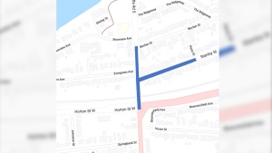 Lane restrictions begin on Monday May 10, 2021 (Source: City of London)