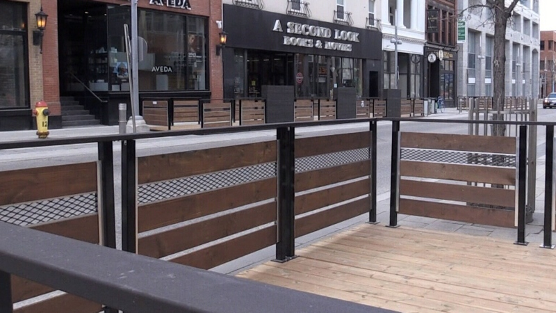 Pop-up patios being installed despite restrictions
