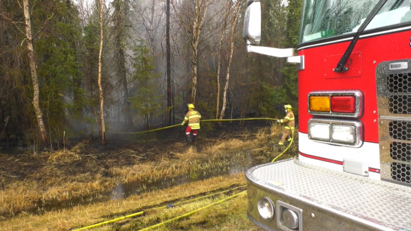 The wildfire near Tomahawk continues to burn as firefighters wrestle to get it under control (CTV News Edmonton)
