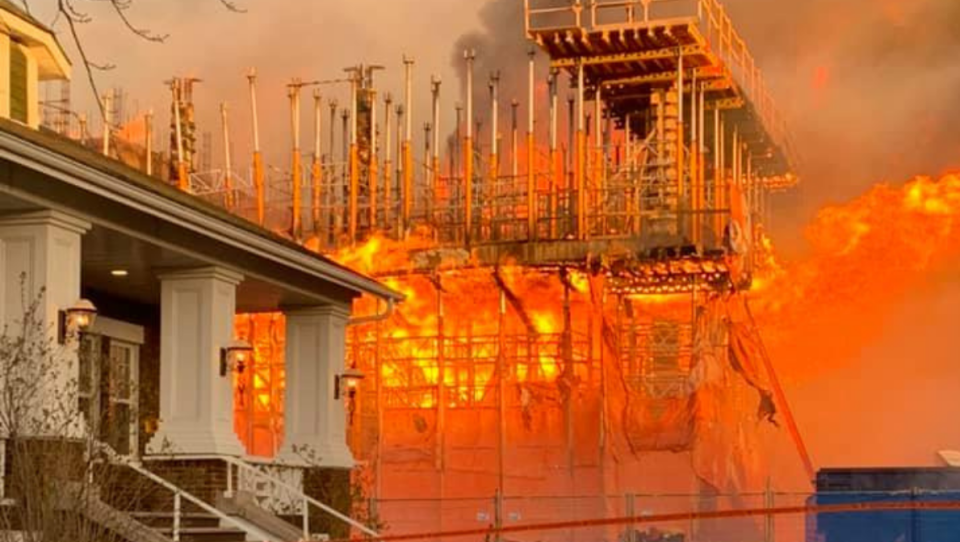 Roberval courthouse goes up in flames