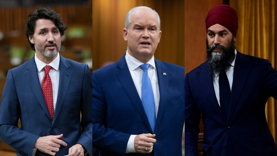 Federal party leaders speak at the House of Common