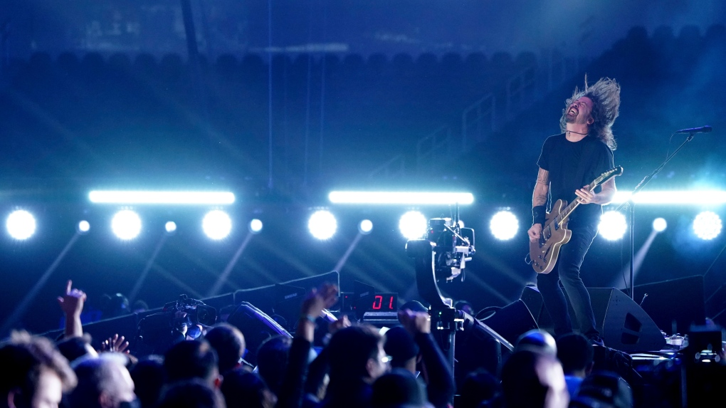 Dave Grohl performs at Vax Live.