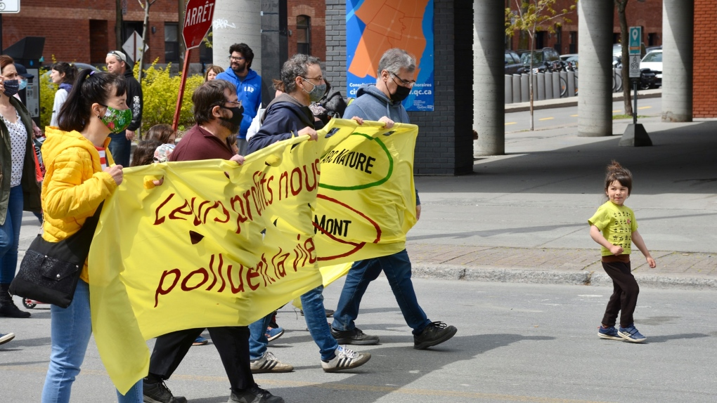 Protesters march against Ray-Mont project