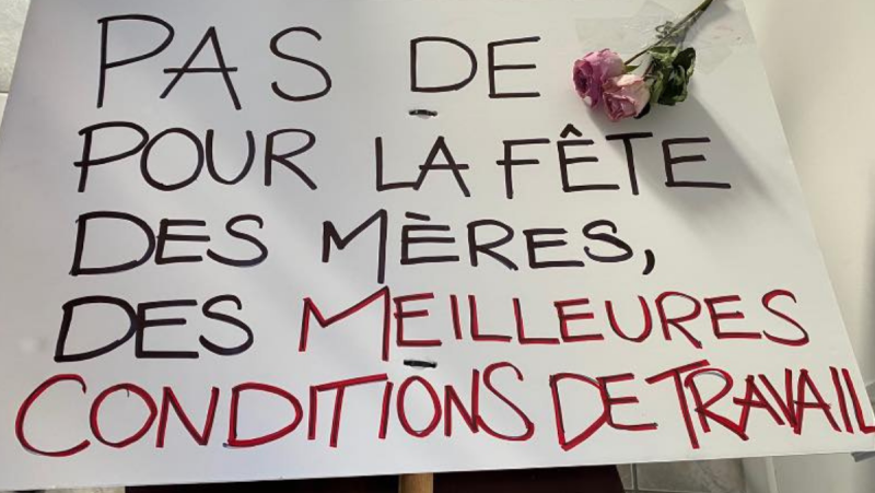 Demonstrations took place across Quebec on Mother's Day demanding more be done to help childcare professionals in the province. SOURCE: Valorisons ma profession/Facebook