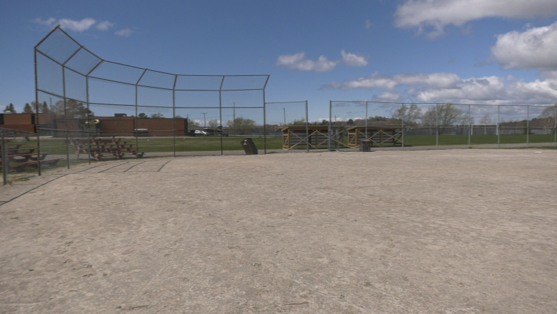 Blind River is one of 14 municipalities across the country who are recipients of this year's Field of Dreams program funding, which will be used to complete big upgrades to the town's only baseball diamond. May 9/21 (Chrisitian D'Avino/CTV News Northern Ontario)