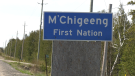 The Ontario Provincial Police in conjunction with the UCCM Anishnaabe Police Service had used the province's emergency alert to issue a 'shelter in place' order for residents in M'Chigeeng, particularly those along Highway 551. May 9/21 (Ian Campbell/CTV News Northern Ontario)