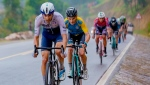 Canadian rider James Piccoli leads cyclists during action in Stage 3 of the Tour of Rwanda on Tuesday, May 4, 2021. THE CANADIAN PRESS/HO-Israel Start-Up Nation team-Jean Chris Kirito MANDATORY CREDIT