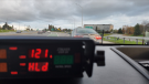 Ottawa Police say a motorist was clocked at 121 km/h on Bronson Avenue on Saturday. (Photo courtesy: Twitter/OPSTrafficCM)