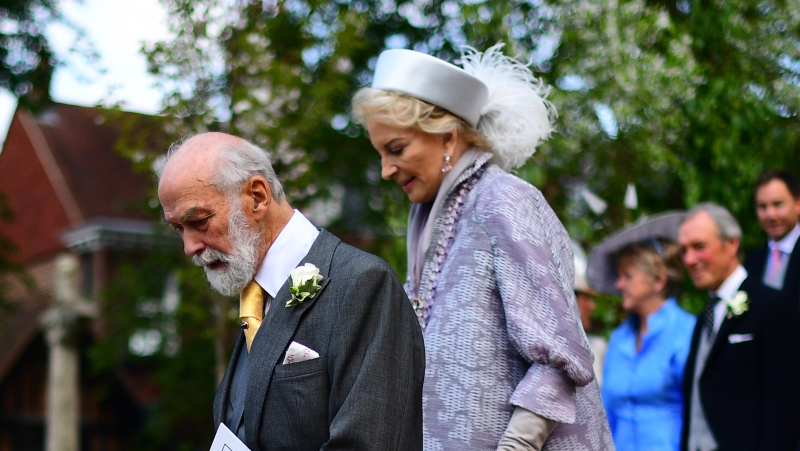 Prince Michael of Kent, Queen Elizabeth's first cousin, can be seen in this image. (VICTORIA JONES/AFP/POOL/AFP via Getty Images)