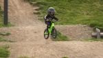 Kashius Weme, age 2, rides his bike at Steve Smith Memorial Bike Park.
