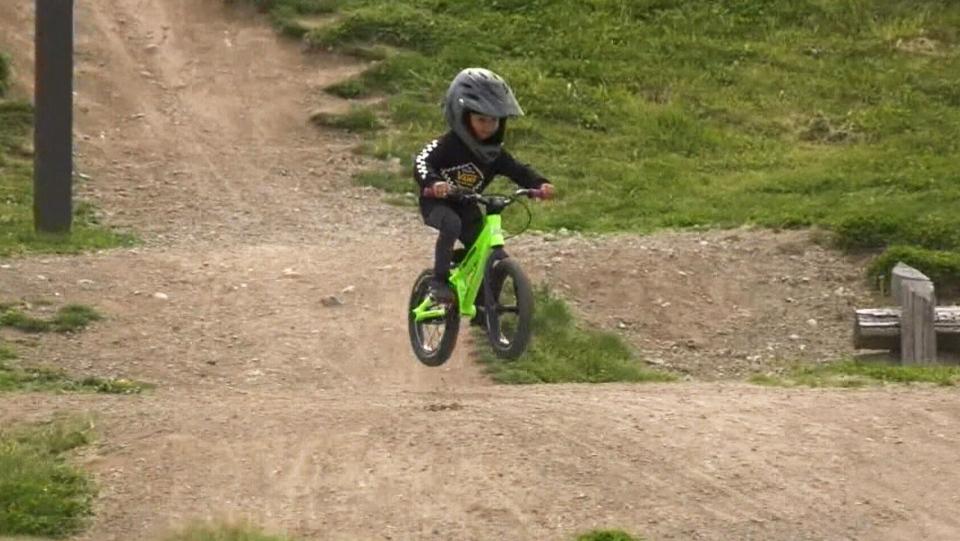 Kashius Weme rides his bike