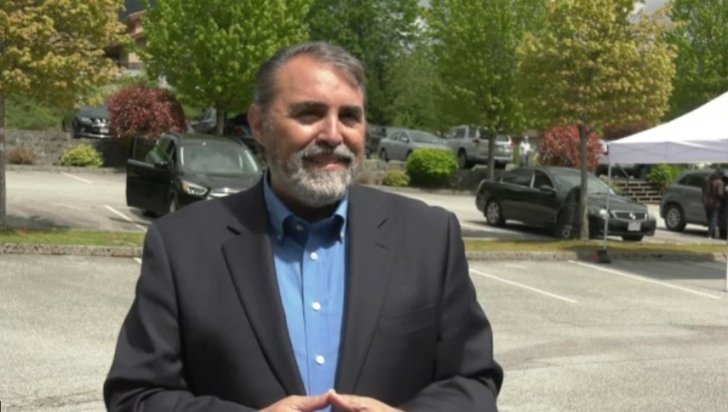 Westwood Community Church pastor Giulio Gabel speaks to CTV News Vancouver on Sunday, May 9, 2021.