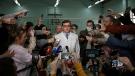Alexander Murakhovsky speaks with the media in Omsk, Russia on August 21, 2020. (Alexey Malgavko/Reuters via CNN)