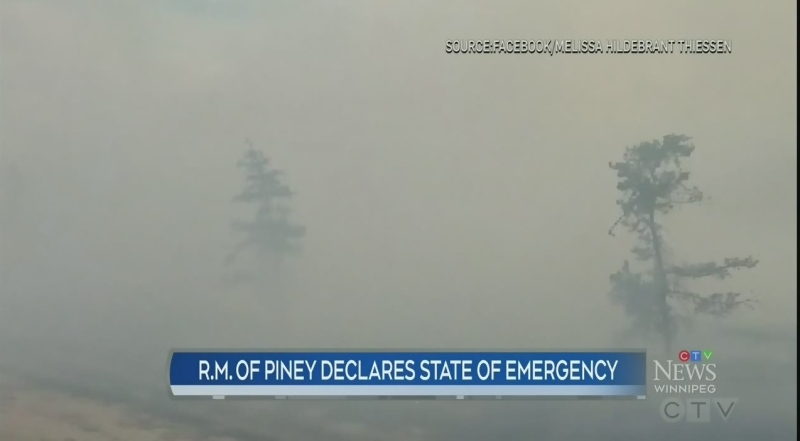 Wildfire emergency in southeastern R.M.