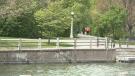 Pedestrians near the Rideau Canal on Sunday, May 9. 2021.