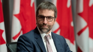 Canadian Heritage Minister Steven Guilbeault is seen during a news conference Thursday June 18, 2020 in Ottawa. THE CANADIAN PRESS/Adrian Wyld
