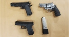 Firearms seized in London, Ont. on Friday, May 7, 2021. (Source: London Police Service)