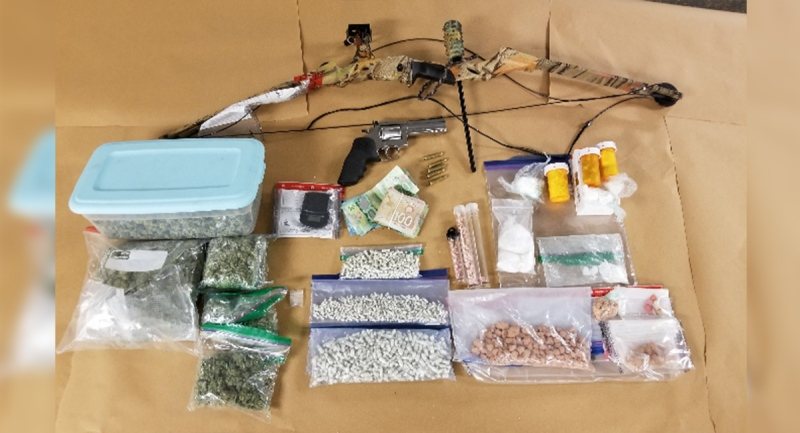 Drugs and other items seized in London, Ont. on Friday, May 7, 2021 are seen in this image released by the London Police Service.