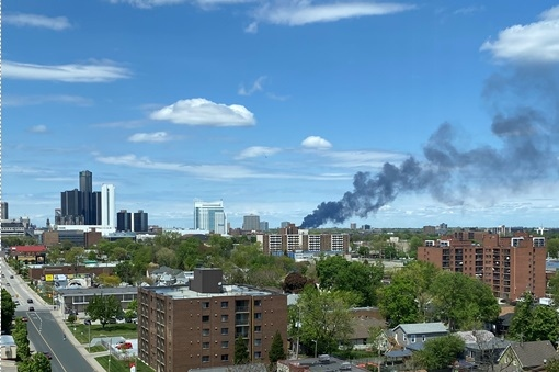 Firefighters in Detroit are battling a second alar