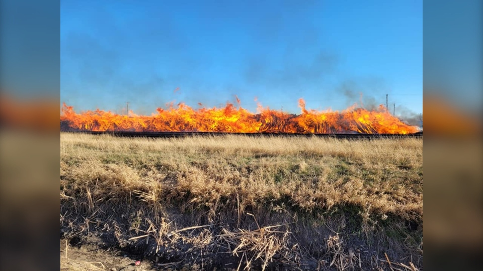 railroad tie fire 4
