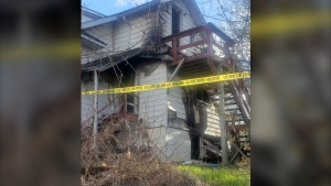 A Temiskaming Shores man has been charged with arson in connection with a fire at a triplex on Probyn Street in Haileybury, Ont. (Jane Kennedy)