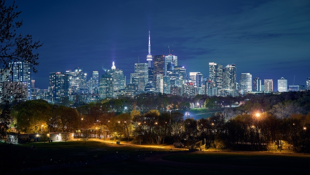 The Toronto skyline is pictured at night in this file photo. (Craig Wadman)
