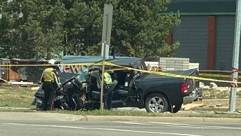Single-vehicle crash at 127 Street and 167 Avenue