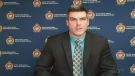 Ottawa police Staff Sgt. Martin Groulx speaks at a news conference on Monday, May 10, 2021 about an alleged abduction of an eight-day-old baby on Mother's Day.