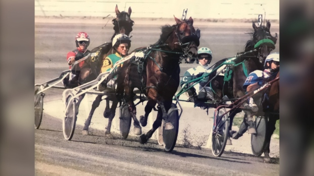 """Sammy and dad racing in Charlottetown, 2008. """"Man, when he found his legs did he become a race horse,"""" he said. (Photo: Jayson Baxter)"""