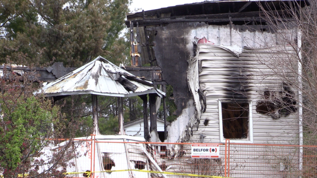 Nile, Ont. house fire on May 10, 2021. (Scott Miller/CTV London)