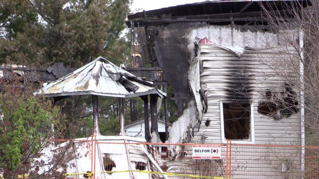 Nile, Ont. house fire on May 10, 2021. (Scott Miller/CTV London)