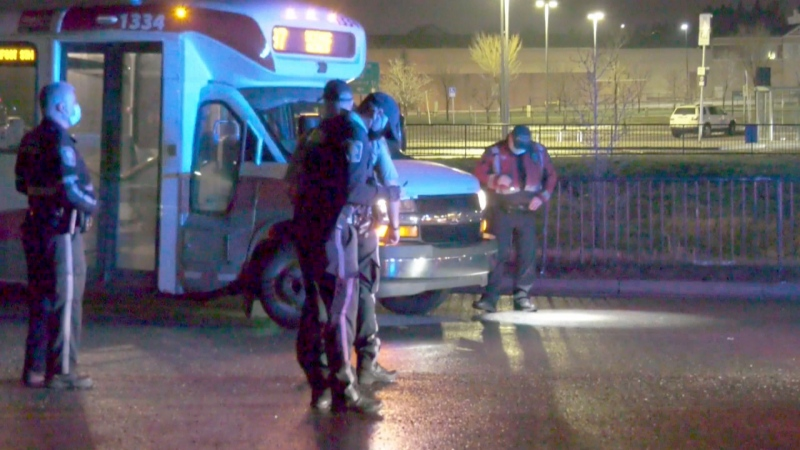 A man in his 60s was rushed to hospital after being struck by a Calgary Transit bus.