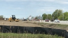 Construction has started to widen Highway 3 in Essex County, Ont. on Monday, May 10, 2021. (Michelle Maluske/CTV Windsor)