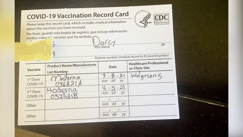 Darcy Cairns Calgary vaccination record