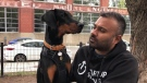 Damiano Raveenthiran says his seven-month-old Doberman puppy, Cash, is his best friend and therapy dog.