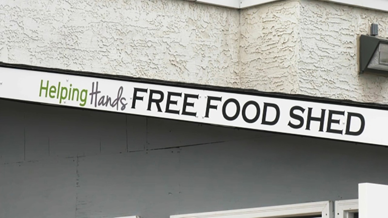 """""""It's a take what you need, leave what you can community food exchange project,"""" says April Baird, Helping Hands Society of Cochrane and Area. The organization has created a food shed that's available around the clock."""