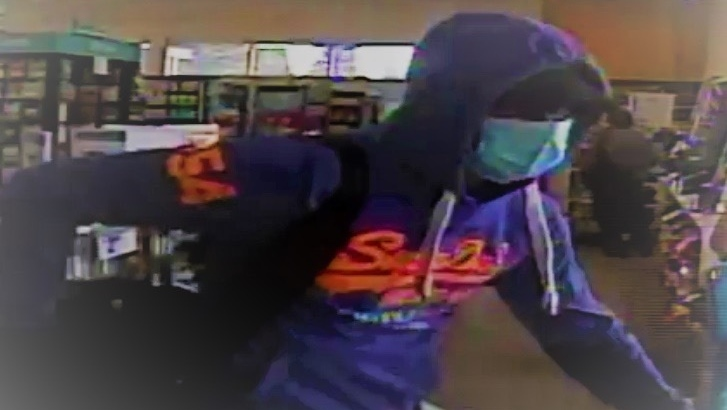 Edmonton police believe the same man - described as being in his early 20s, approximately 6 feet tall, and white - is responsible for three separate pharmacy robberies that happened in April. (Image Source: Edmonton Police Service)
