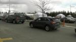 Drive-thru vaccines popular in Sudbury
